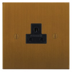 Focus SB Ambassador Square Corners NABA19.1B 1 gang 2 amp unswitched socket in Bronze Antique with black inserts