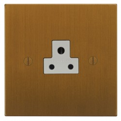 Focus SB Ambassador Square Corners NABA19.1W 1 gang 2 amp unswitched socket in Bronze Antique with white inserts