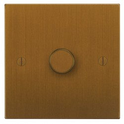Focus SB Ambassador Square Corners NABA21.1 1 gang 2 way 250W (mains and low voltage) dimmer in Bronze Antique