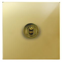 Focus SB Ambassador Square Corners NAPB14.1/3 1 gang 20 amp Intermediate toggle switch in Polished Brass