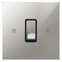 Focus SB Ambassador Square Corners NAPC11.1/3B 1 gang 20 amp Intermediate rocker switch in Polished Chrome