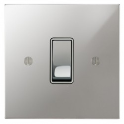 Focus SB Ambassador Square Corners NAPC11.1/3W 1 gang 20 amp Intermediate rocker switch in Polished Chrome with White Inserts