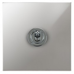 Focus SB Ambassador Square Corners NAPC14.1 1 gang 20 amp 2 way toggle switch in Polished Chrome