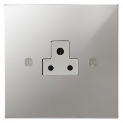 Focus SB Ambassador Square Corners NAPC19.1W 1 gang 2 amp unswitched socket in Polished Chrome with white inserts