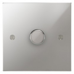Focus SB Ambassador Square Corners NAPC21.1 1 gang 2 way 250W (mains and low voltage) dimmer in Polished Chrome