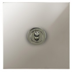 Focus SB Ambassador Square Corners NAPN14.1 1 gang 20 amp 2 way toggle switch in Polished Nickel