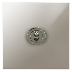 Focus SB Ambassador Square Corners NAPN14.1/3 1 gang 20 amp Intermediate toggle switch in Polished Nickel