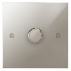 Focus SB Ambassador Square Corners NAPN21.1 1 gang 2 way 250W (mains and low voltage) dimmer in Polished Nickel