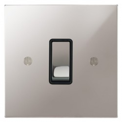 Focus SB Ambassador Square Corners NAPS11.1/3B 1 gang 20 amp Intermediate rocker switch in Polished Stainless