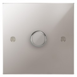 Focus SB Ambassador Square Corners NAPS21.1 1 gang 2 way 250W (mains and low voltage) dimmer in Polished Stainless