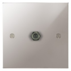 Focus SB Ambassador Square Corners NAPS54.1 1 gang satellite socket in Polished Stainless