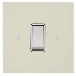 Focus SB Ambassador Square Corners NAPW10.1W 1 gang 20 amp 2 way rocker switch in Primed White with white inserts