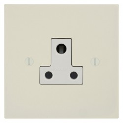 Focus SB Ambassador Square Corners NAPW20.1W 1 gang 5 amp unswitched socket in Primed White with white inserts