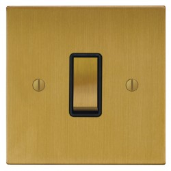 Focus SB Ambassador Square Corners NASB11.1/3B 1 gang 20 amp Intermediate rocker switch in Satin Brass
