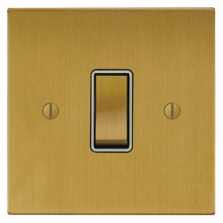 Focus SB Ambassador Square Corners NASB11.1/3W 1 gang 20 amp Intermediate rocker switch in Satin Brass wi...