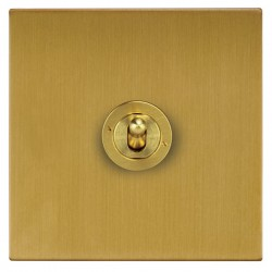 Focus SB Ambassador Square Corners NASB14.1/3 1 gang 20 amp Intermediate toggle switch in Satin Brass
