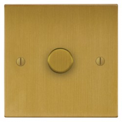 Focus SB Ambassador Square Corners NASB21.1 1 gang 2 way 250W (mains and low voltage) dimmer in Satin Bra...