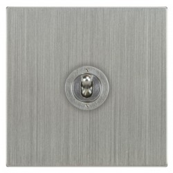 Focus SB Ambassador Square Corners NASC14.1 1 gang 20 amp 2 way toggle switch in Satin Chrome