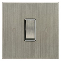 Focus SB Ambassador Square Corners NASN11.1W 1 gang 20 amp 2 way rocker switch in Satin Nickel with white inserts