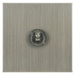 Focus SB Ambassador Square Corners NASN14.1 1 gang 20 amp 2 way toggle switch in Satin Nickel