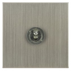 Focus SB Ambassador Square Corners NASN14.1/3 1 gang 20 amp Intermediate toggle switch in Satin Nickel
