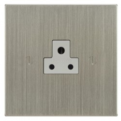 Focus SB Ambassador Square Corners NASN19.1W 1 gang 2 amp unswitched socket in Satin Nickel with white inserts