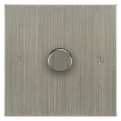 Focus SB Ambassador Square Corners NASN21.1 1 gang 2 way 250W (mains and low voltage) dimmer in Satin Nickel