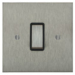 Focus SB Ambassador Square Corners NASS11.1/3B 1 gang 20 amp Intermediate rocker switch in Satin Stainless