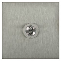 Focus SB Ambassador Square Corners NASS14.1 1 gang 20 amp 2 way toggle switch in Satin Stainless