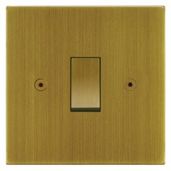 Focus SB Horizon Square Corners NHAB11.1 trimless 1 gang 20 amp 2 way rocker switch in Antique Brass