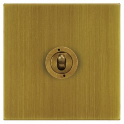 Focus SB Horizon Square Corners NHAB14.1 1 gang 20 amp 2 way toggle switch in Antique Brass
