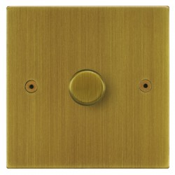 Focus SB Horizon Square Corners NHAB22.1 1 gang 2 way 400W (mains and low voltage) dimmer in Antique Brass