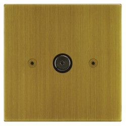 Focus SB Horizon Square Corners NHAB23.1 1 gang isolated co-axial TV socket in Antique Brass