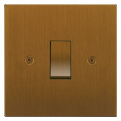 Focus SB Horizon Square Corners NHBA11.1 trimless 1 gang 20 amp 2 way rocker switch in Bronze Antique