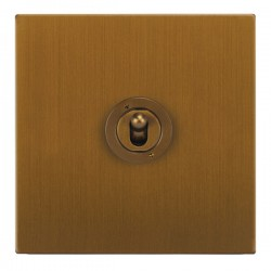 Focus SB Horizon Square Corners NHBA14.1 1 gang 20 amp 2 way toggle switch in Bronze Antique