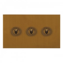 Focus SB Horizon Square Corners NHBA14.3 3 gang 20 amp 2 way toggle switch in Bronze Antique
