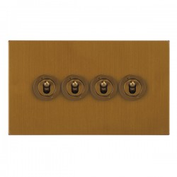 Focus SB Horizon Square Corners NHBA14.4 4 gang 20 amp 2 way toggle switch in Bronze Antique