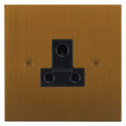 Focus SB Horizon Square Corners NHBA20.1B 1 gang 5 amp unswitched socket in Bronze Antique with black inserts
