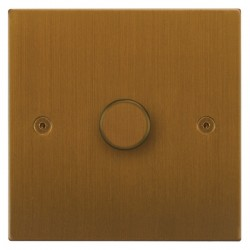 Focus SB Horizon Square Corners NHBA21.1 1 gang 2 way 250W (mains and low voltage) dimmer in Bronze Antique