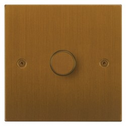 Focus SB Horizon Square Corners NHBA22.1 1 gang 2 way 400W (mains and low voltage) dimmer in Bronze Antique