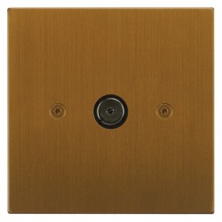 Focus SB Horizon Square Corners NHBA23.1 1 gang isolated co-axial TV socket in Bronze Antique