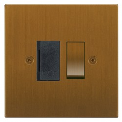 Focus SB Horizon Square Corners NHBA26.1B 13 amp switched fuse spur in Bronze Antique with black inserts