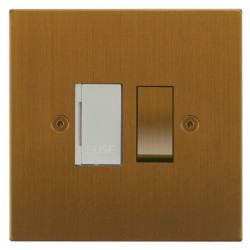 Focus SB Horizon Square Corners NHBA26.1W 13 amp switched fuse spur in Bronze Antique with white inserts