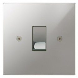 Focus SB Horizon Square Corners NHPC11.1 trimless 1 gang 20 amp 2 way rocker switch in Polished Chrome