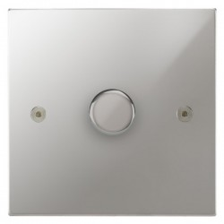 Focus SB Horizon Square Corners NHPC21.1 1 gang 2 way 250W (mains and low voltage) dimmer in Polished Chrome
