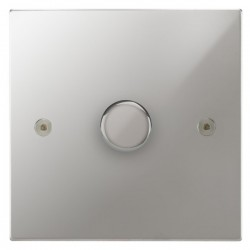 Focus SB Horizon Square Corners NHPC22.1 1 gang 2 way 400W (mains and low voltage) dimmer in Polished Chrome