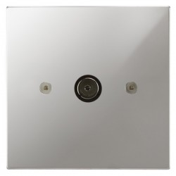 Focus SB Horizon Square Corners NHPC23.1 1 gang isolated co-axial TV socket in Polished Chrome