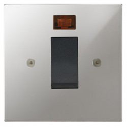 Focus SB Horizon Square Corners NHPC33.1B/SML 45 amp cooker control switch with neon in Polished Chrome