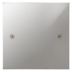 Focus SB Horizon Square Corners NHPC37.1 single blank plate in Polished Chrome