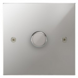 Focus SB Horizon Square Corners NHPC43.1/SML 1 gang 700W low voltage, 1000W mains voltage dimmer in Polished Chrome